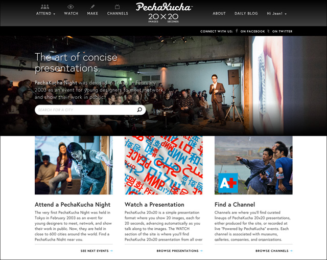 The New PechaKucha Website